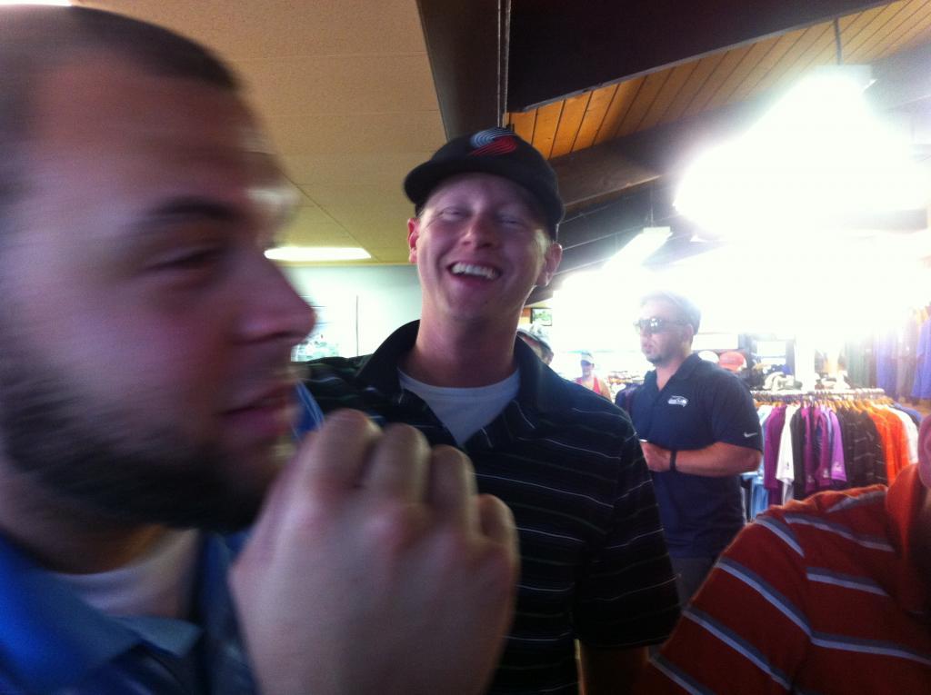 The Prez telling Laren he is a ok winner.
