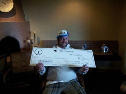 Big check, check. Trucker hat, check. Asshole, check.