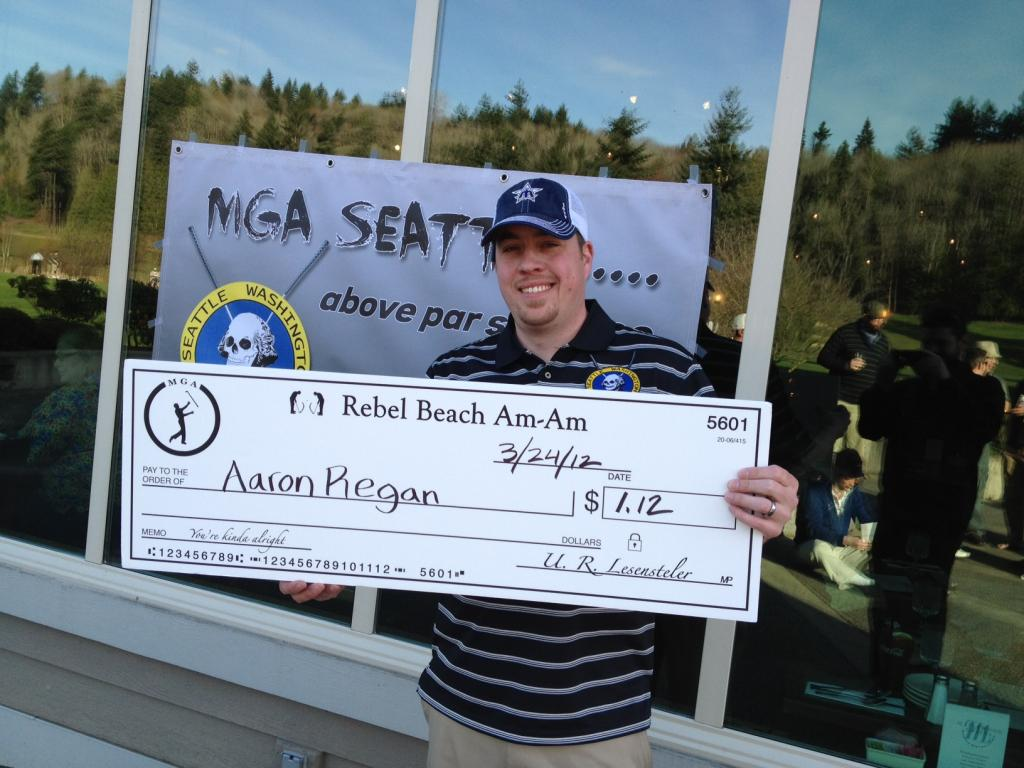 Regan and the Kinda Big Check